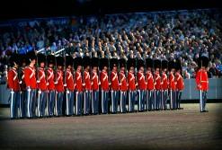 Auch für beliebte Veranstaltungen, wie die Vorführungen des Militärs, einem Tattoo, wurde der EXPO-roll genutzt. Vor dem königlichen Schloss wurde das
