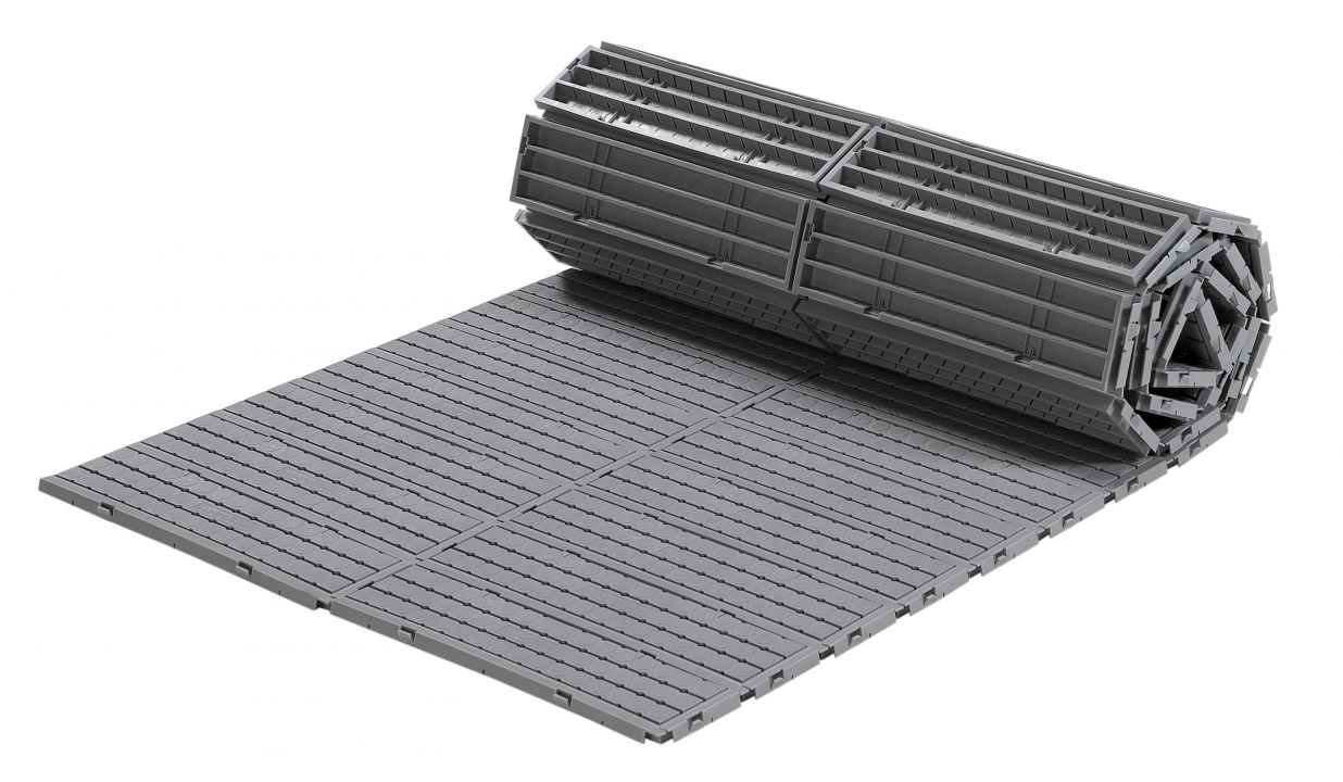 Rollbarer Kunststoff-Bodenbelag EXPO-roll in hellgrau