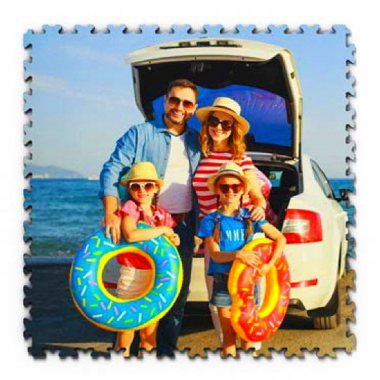 Fotodrucke auf PVC Fliesen mit Produkthinweis