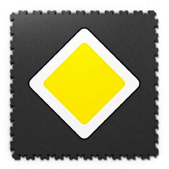 Fotodrucke auf PVC Fliesen mit Verkehrsschild