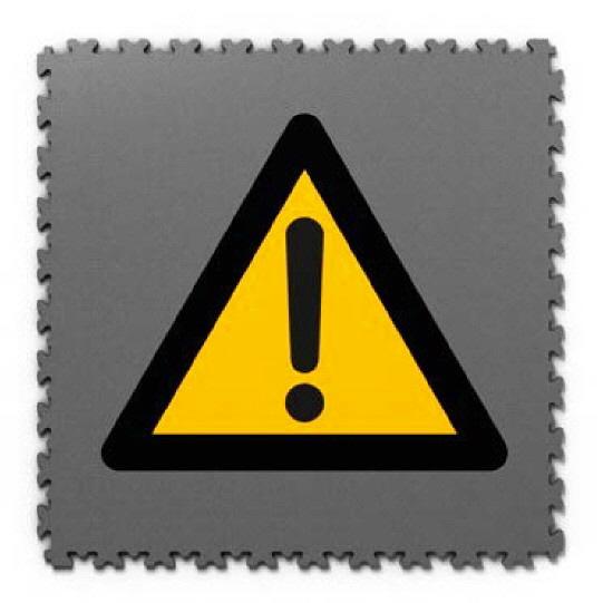 Fotodrucke auf PVC Fliesen mit Warnschild