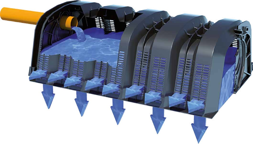 Drening ist ein Regenwassersammel- und -ableitungssystem zur Abwasserentsorgung