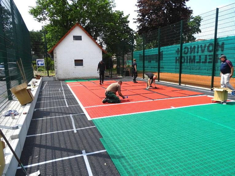 Installation U-8 Tennis Kleinspielfeld für TSV Wallenhorst