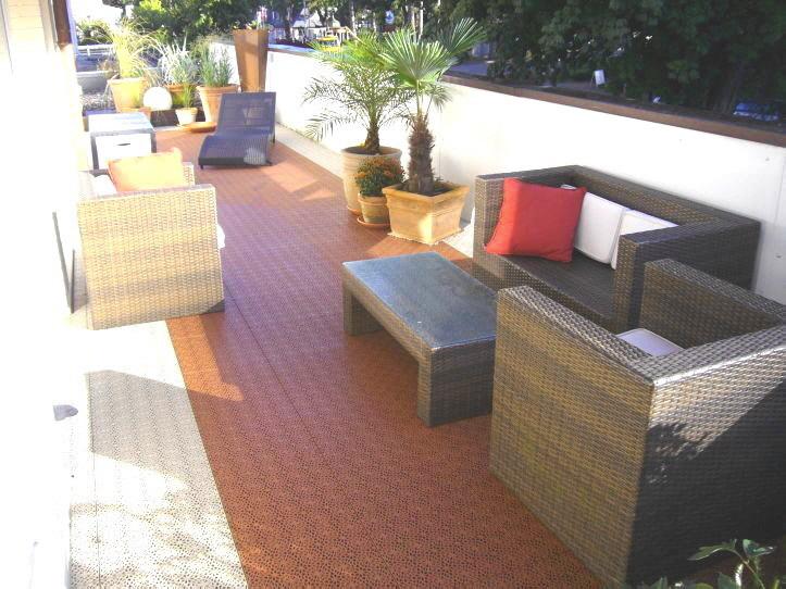 Wohn Ideen Mit Dekorativem Balkon Boden Belag