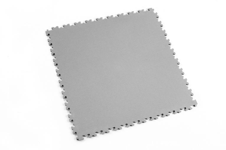 7 mm Industrie PVC-Bodenfliese Grau Typ Fortelock 2020 Oberfläche Leder glatt mit Puzzle-Verbindungen