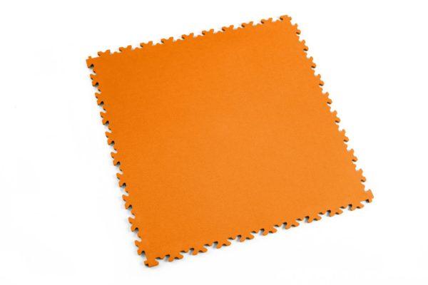 7 mm Industrie PVC-Bodenfliese Orange Typ Fortelock 2020 Oberfläche Leder glatt mit Puzzle-Verbindungen