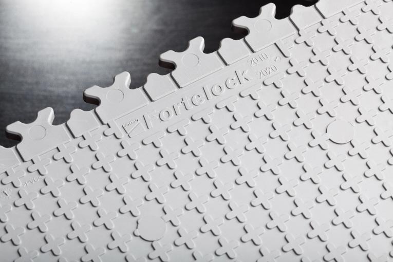 7 mm Industrie PVC-Bodenfliese Grau Typ Fortelock 2020  Unterseite für schwere Belastungen