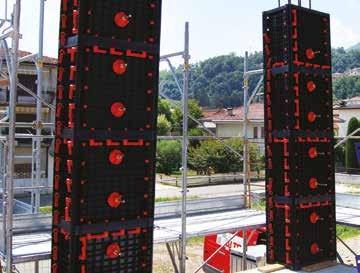Kunststoff Schalung Beton – Betonschalung ABS Kunststoff - Schalungssysteme Betonwände, Säulen, Pfeiler, Schalung für Fundamente – recycelte ABS  Kunststoffschalungen für rechteckige Säulen – Schalung für quadratische Betonpfeiler - über 100-fach benutzba